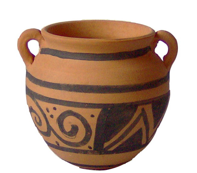 Nabatean of Petra clay art pot and pottery craft